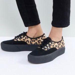 VANS new authentic platform leopard